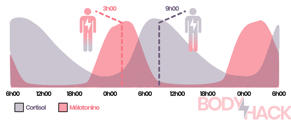 L'influence de la lumière du jour sur la production de cortisol et de mélatonine