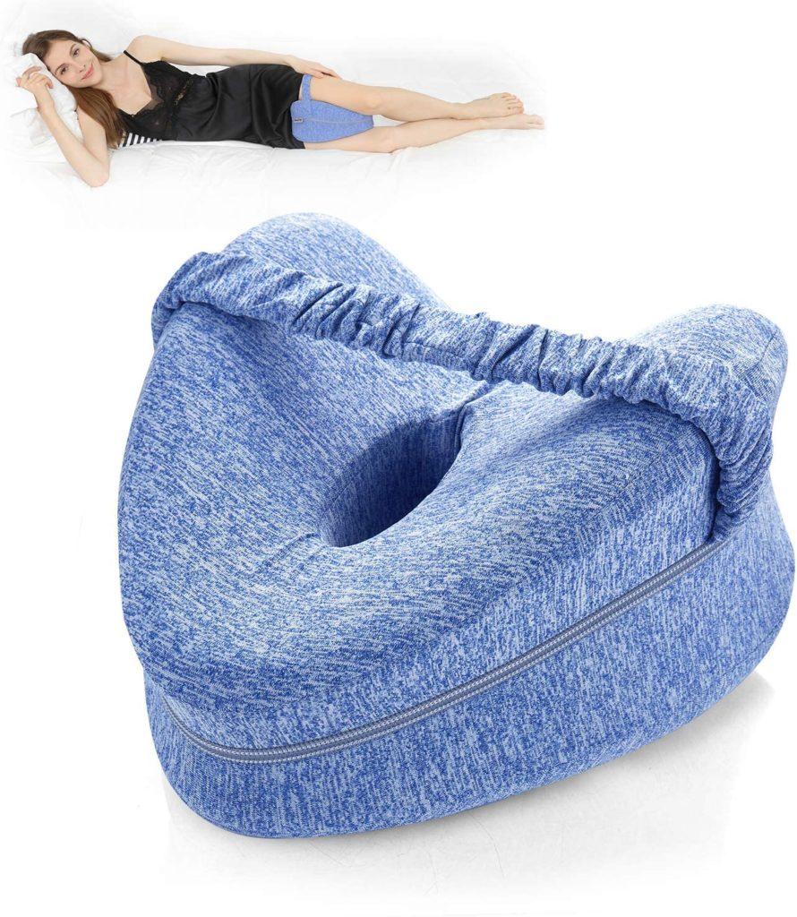 Coussin de jambe pour améliorer la posture pendant le sommeil